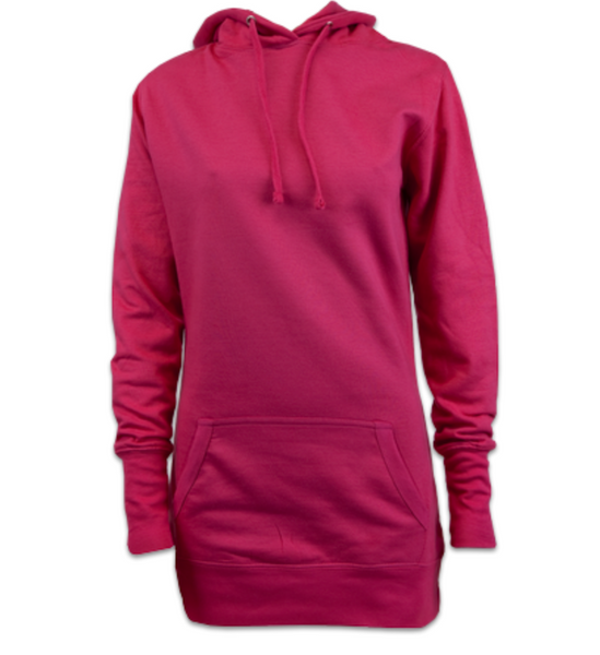 Ladies Dress Hoodie (Hot Pink)