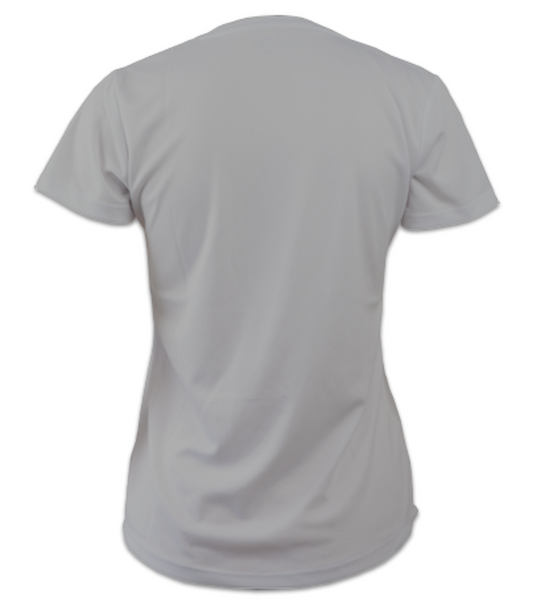 Ladies Short-Sleeve Technical Running T (Heather Grey)