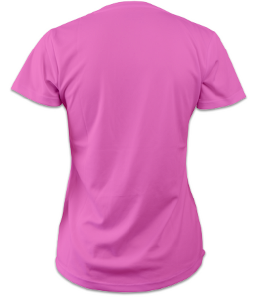 Ladies Short-Sleeve Technical Running T (Electric Pink)