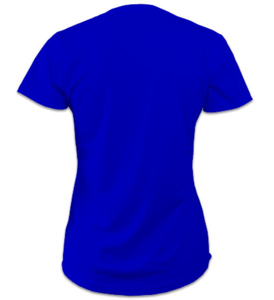 Ladies Short-Sleeve Technical Running T (Royal Blue)