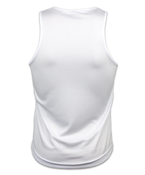 Mens Technical Running Vest Top (Arctic White)