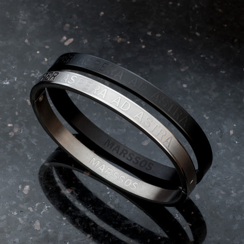 The Perseverance Bracelet - Black and Silver
