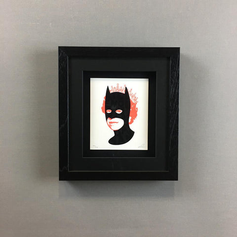 Wall Art - Heath Kane - Rich Enough To Be Batman - Black And Neon Red - Limited Edition - Framed