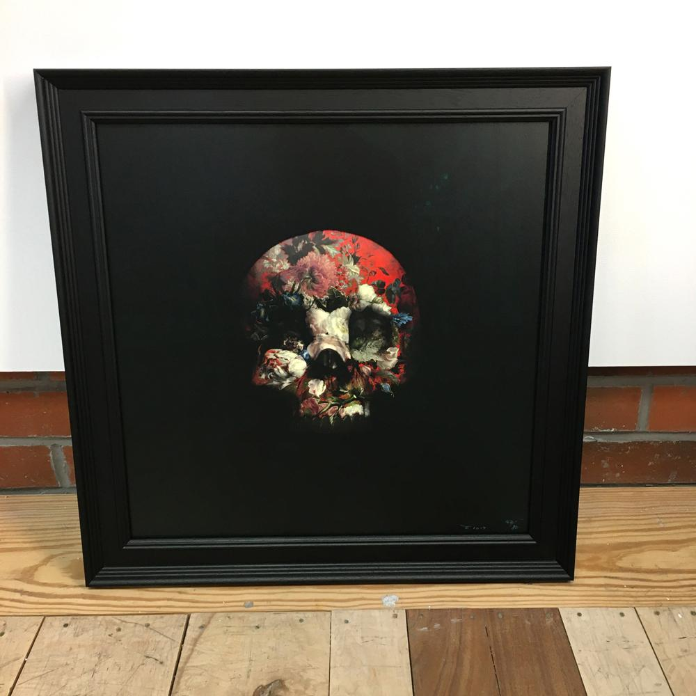 Wall Art - Magnus Gjoen - There Is A Strong Shadow Where There Is Much Light (Red) - Limited Edition - Framed
