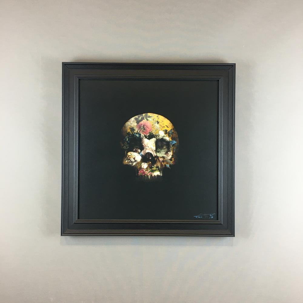 Wall Art - Magnus Gjoen - There Is A Strong Shadow Where There Is Much Light (Yellow) - Limited Edition - Framed