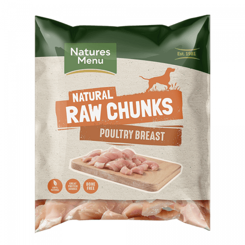 NM Raw Chicken Poultry Chunks Natures Menu 1kg  bbm