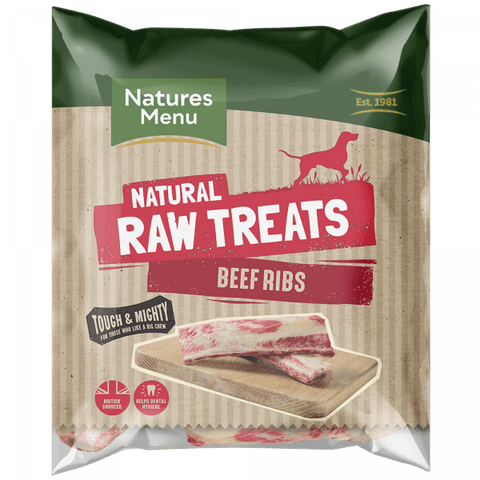 NM Raw Beef Rib Bone Natures Menu  code bbr