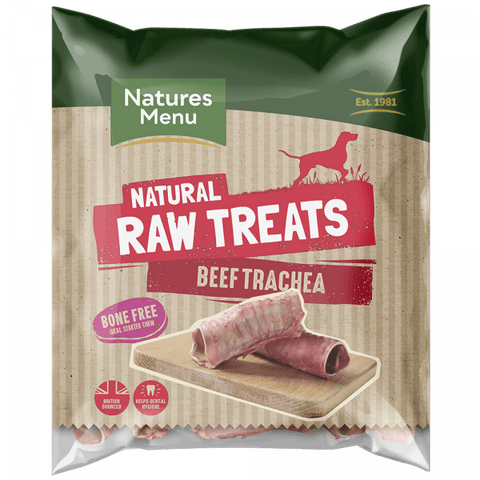 NM Raw Beef Trachea Throat Natures Menu  SKU BBT