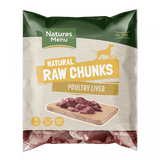 NM Raw  Poultry Liver  Chunks Natures Menu 1kg  bpl