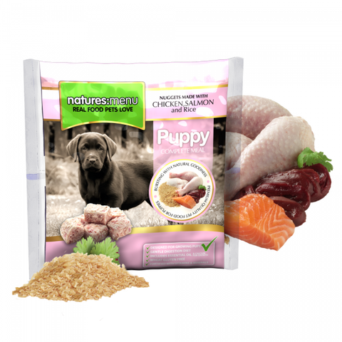 NM Natures Menu Puppy  Nuggets Chicken & Salmon & Brown rice,(pink bag) sku nmnpu