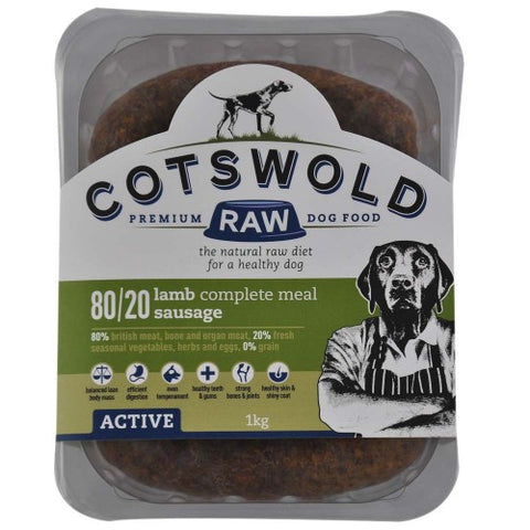 CW Minced Lamb sausages 80/20 Active Range 1kg Cotswold Raw sau3011