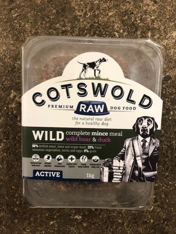 CW RAW WILD RANGE MINCE (WITH WILD BOAR & DUCK) - 1KG