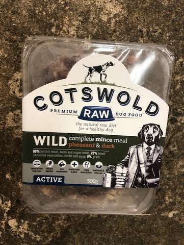 CW RAW WILD RANGE MINCE (WITH PHEASANT & DUCK) - 500G