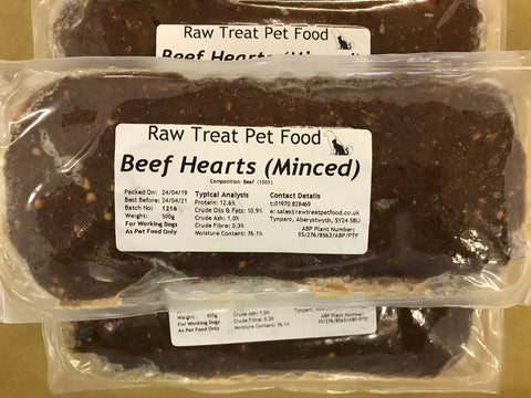 RT Minced Heart Raw Treat Pet Food 500g