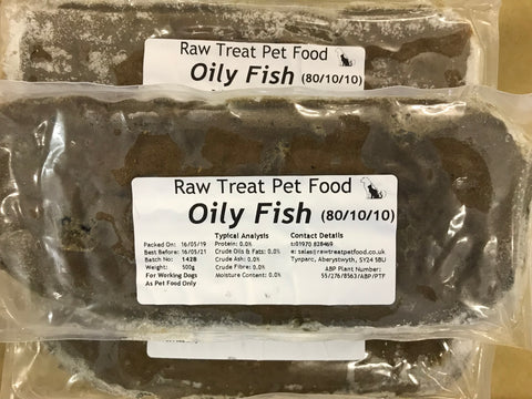 RT Minced Oily Fish Raw Treat Brand 500g