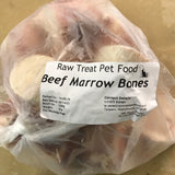 RT RAW TREAT PET FOOD BEEF MINI MARROW BONE SHANK  BAG OF 8-10 BONES