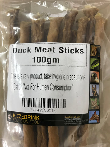 TREAT  DRIED DUCK MEAT STICKS 100gm