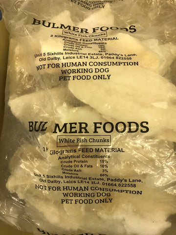Raw Fish Chunks 2kg BULMERS PET FOOD