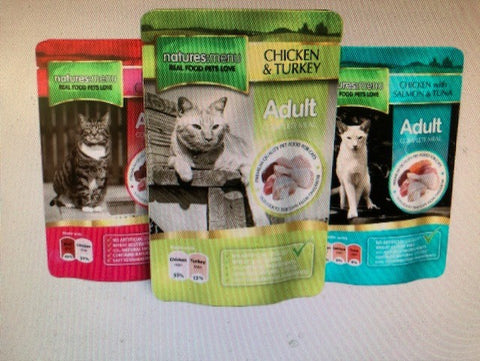 NM Natures Menu CAT POUCHES 12 X 100G sku MUL