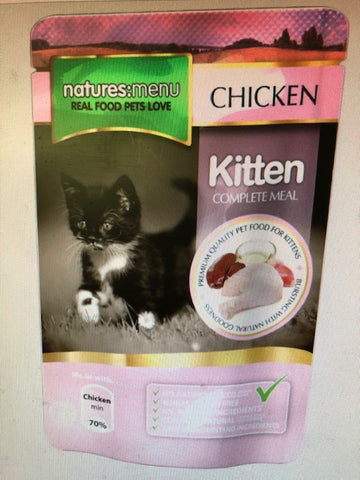 NM Natures Menu KITTEN POUCHES 12 X 100G sku KIT100
