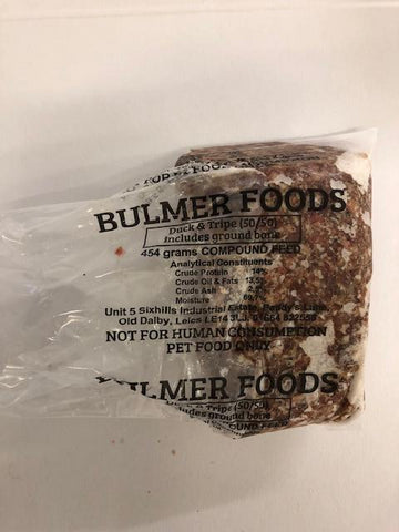 Minced  Duck and Tripe (beef) Bulmers 454g