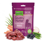 NM  Country Hunter Freeze dried Dog Treat. Venison & Blueberry. Natures Menu nmdtv