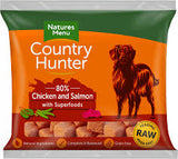 NM Country Hunter Dog Nuggets Chicken & Salmon  NATURES MENU    code nmnsr