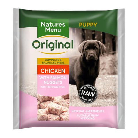 NM Natures Menu Puppy  Nuggets Chicken & Salmon & Brown rice,  nmnpu