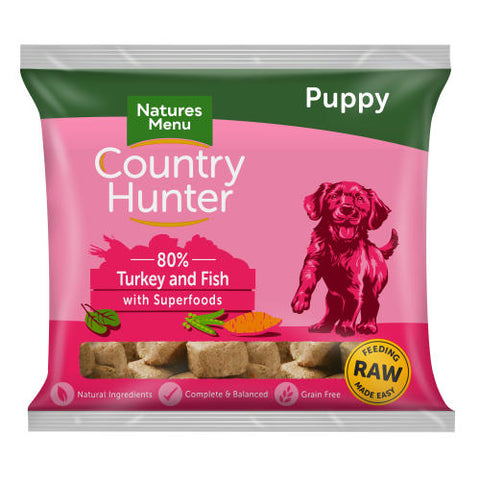 NM Country Hunter Puppy Nuggets Turkey & White Fish Natures Menu chnpup