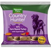 NM Country Hunter Dog Nuggets Turkey  Natures Menu    code chnta