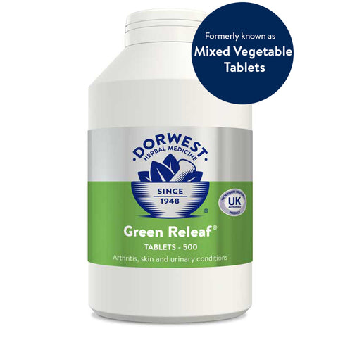Green Releaf Tablets For Dogs And Cats  200 tablets DORWEST