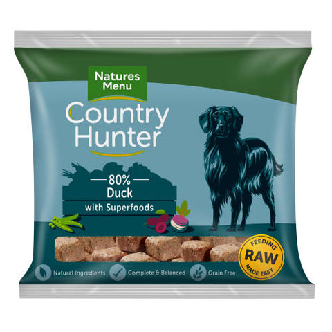 NM Raw Country Hunter superfood nuggets succulent Duck sku nmndp