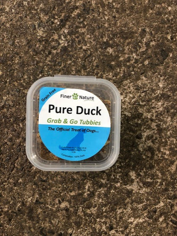 FINER  BY NATURE TREAT - Pure Duck Cubes  BITES 150g tub