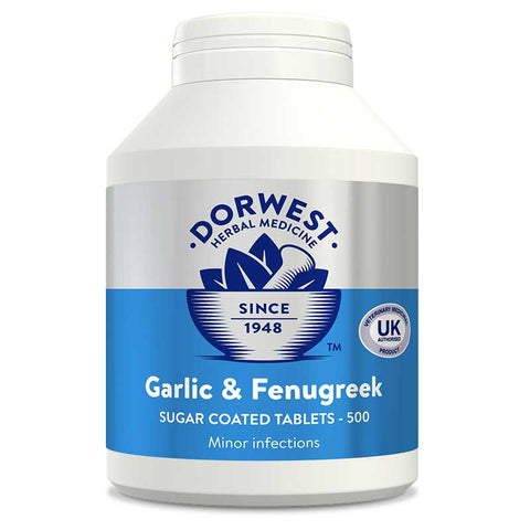 Garlic & Fenugreek Tablets For Dogs And Cats 100 tabs DORWEST