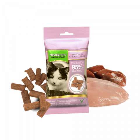 NM Real Meaty Cat Treats With Chicken & Liver Natures menu