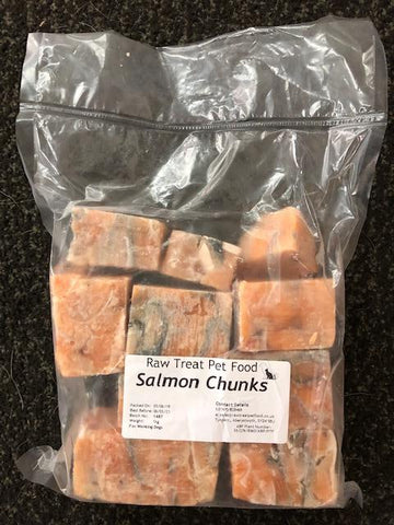RT Raw Treat Salmon Chunks 1kg PET FOOD