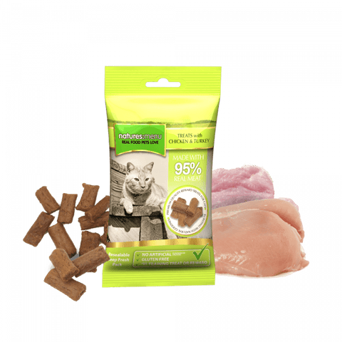 NM Real Meaty Cat Treats With Chicken & Turkey Natures menu nmctt