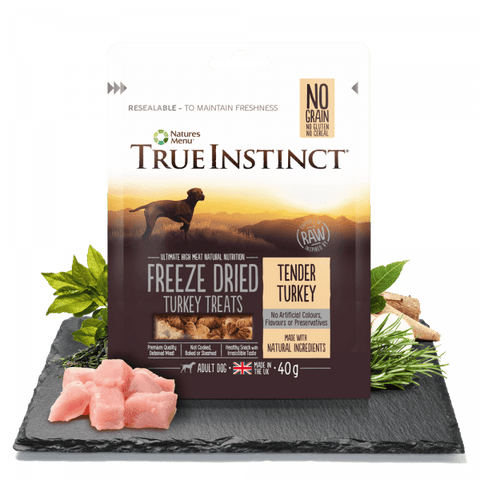 NM Freeze dried Turkey treats True instinct Natures Menu  40G  sku TIDFDT