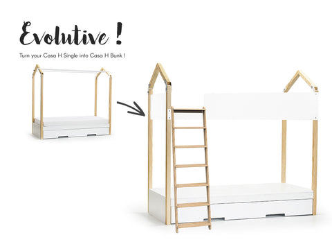 modern bunk bed with storage