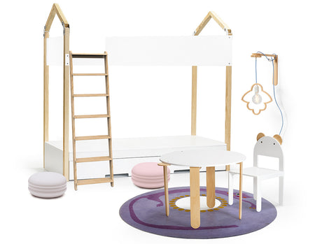 designer bunk bed for sleepover