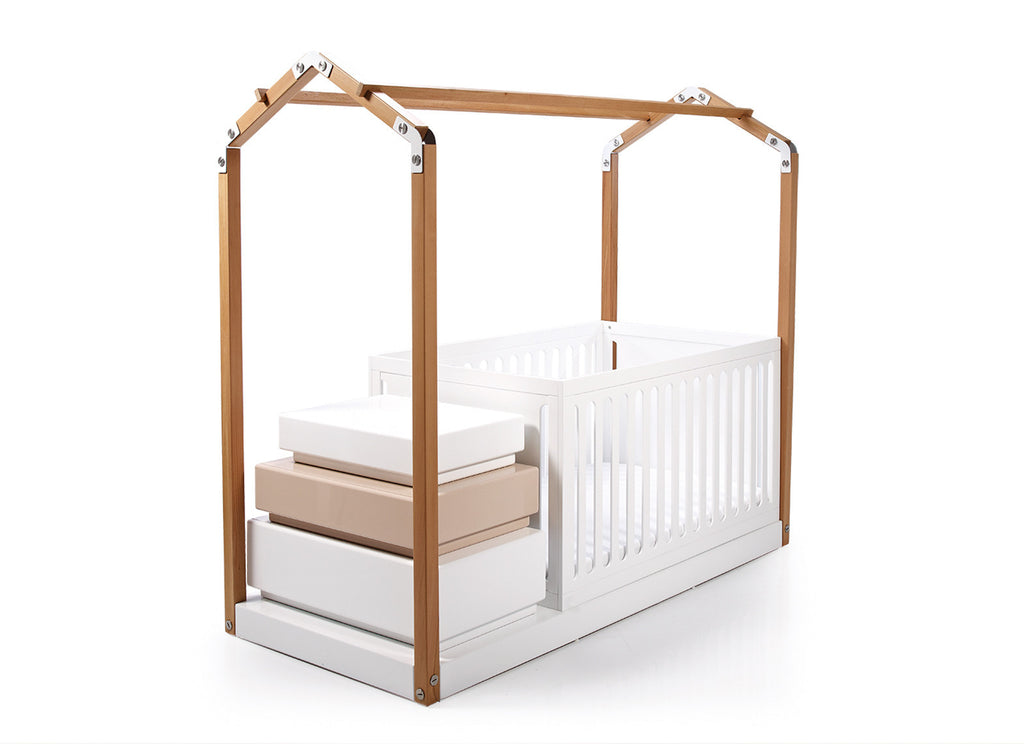 contemporary cot bed with storage
