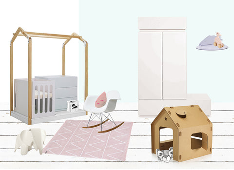 contemporary baby room nursery design