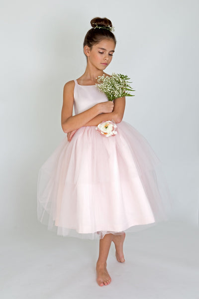 Ballerina Dress with Flower - Precious + Posh