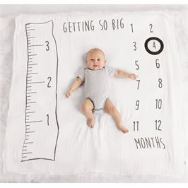 Muslin Watch Me Grow Photo Blanket