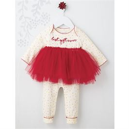 Mud Pie, Best Gift Ever Red Tutu One Piece - Precious + Posh