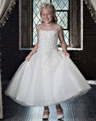 Macis Communion Dress White Size 8