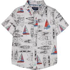 Andy & Evan, Vintage Sailboat Printed Shirt - Precious + Posh