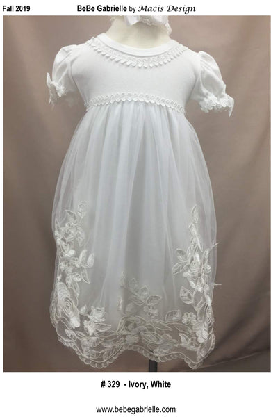 Macis Christening Gown Ivory Size  PRE-A