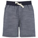 Blue Chambray Ribbed Shorts - Precious + Posh