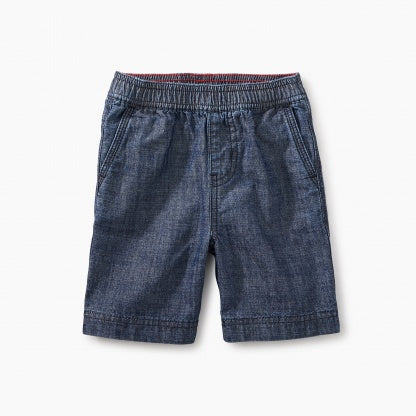 Tea Collection Easy Does It Chambray Baby Shorts - Precious + Posh